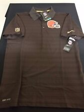New Men's Nike NFL Cleveland Browns Dri-Fit Polo Shirt Style 679313-239 Size S
