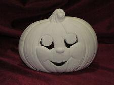 Ceramic Bisque Pumpkin Cut Out Jack o Lantern Halloween U Paint