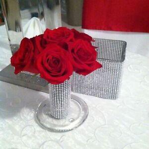 Diamond Ribbon Crystal Mesh Roll Wrap Rhinestone Decoration Band Wedding Xmas