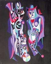 Australian abstract acrylic painting on canvas  by Yuri Stepanuk. 65x80cm 1995