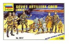 Soviet Artillery Crew WWII Zvezda 1/35 Scale Plastic Toy Soldiers #3517 NIB!!