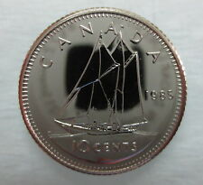 1985 CANADA 10 CENTS PROOF-LIKE DIME COIN