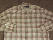 Polo Ralph Lauren Mens Beige Brown & Pink Plaid Button Down Front Shirt M medium