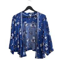 Forever 21 Blue Floral Boho Kimono Size Medium