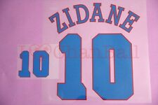 Zidane #10 1996 France Awaykit Nameset Printing