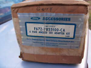 "1990-1995 FORD EXPLORER OEM FORD ACCESSORY SKI RACK, ""NEW OLD STOCK"" FORD SCRIPT"