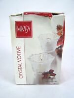 "Mikasa Crystal Votive 3"" Candle Holder 2 Piece Set"