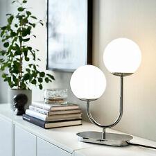 "IKEA Simrishamn Table Lamp Chrome Plated Opal Glass 17 "" -"