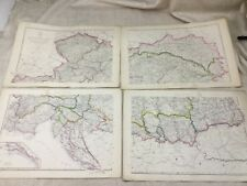 Antique Map of the Austrian Empire Austria Europe Hand Coloured 19th Century