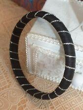 Fashion Jewellery Bracelet black bangle silver stripe