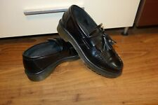 Dr Martens Adrian Black Smooth Leather Tassel Loafers Size 6 Excellent Condition