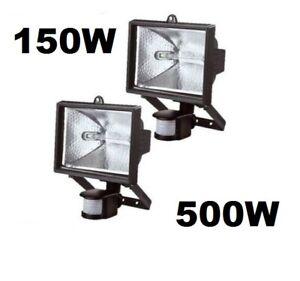 150w 500w PIR Motion Sensor Outdoor Garden Security Light Halogen Floodlight