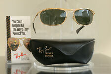 Excellent: Bausch & Lomb Ray Ban USA Olympian I Deluxe 24 K Gold, BL Vintage