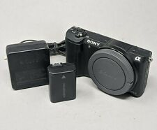 Sony Alpha A5100 24.3MP Digital Camera - Black (Body Only) w charger and battery