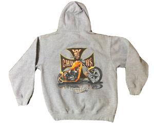 VTG West Coast Choppers Jesse Who Motorcycle Hoodie Sweatshirt Size Men's XL