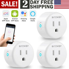 3X BW Wifi Smart Plug Outlet Switch APP US Socket Work with Alexa & Google Home