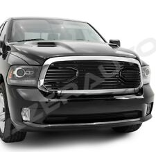 13-18 Dodge Ram 1500 Big Horn Black Packaged Grille+Chrome Replacement Shell