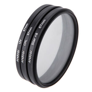 67MM Professional , CPL, Star 8-Point Filter Kit for Canon  Cameras Y9F8