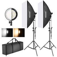 Neewer Studio Photo Bi-color Dimmable LED Softbox Lighting Kit