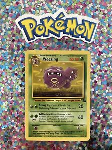 ⭐️ Weezing Fossil Set Pokemon Card Wizards WotC Game Freak Nintendo 1999 🎏