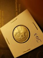 Canada 1947 Maple Leaf Variety 25 Cent Silver Coin Id#j123.