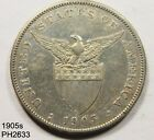 PHILIPPINES Peso 1905S circulated with CHOP MARKS Free Shipping in United States