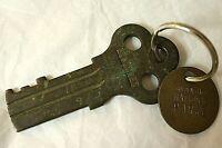 Vintage Souvenir Alcatraz Brass Prison Cell Key Golden Gate National Parks CA