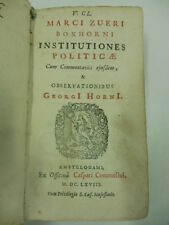 BOXHORN Marco Zuerius, V. Cl. Marci Zueri Boxhorni institutiones politicae