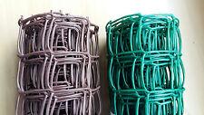 50mm Green / Brown Plastic Garden PVC Mesh Wire Fencing 5m 10m 20m