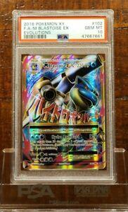 PSA 10 - M Blastoise EX #102 - XY Evolutions - Full Art Pokemon Card - GEM MINT