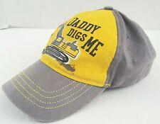 John Deere Daddy Digs Me Toddlers Baseball Hat OSFM Yellow and Gray