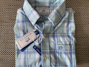 Southern Tide Boys Intercoastal Stretch plaid Button Front Shirt