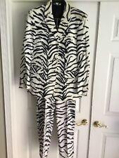 Versace 90's Mens Faux Fur Zebra Suit Vintage!