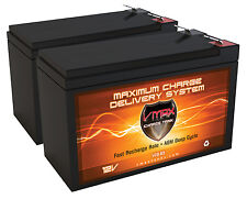QTY 2: VMAX63 12V 10AH AGM Battery for Electric Scooter, Ebike, Toy Car, Razor