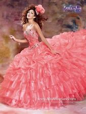 NEW Alta Couture by Mary's XV Sweet 16 Quinceanera Dress 4T127 Calypso Size 14