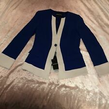 NEW Emporio Armani Colbalt Blue Formal Suit Jacket Blazer RRP £550 IT 42 UK 10