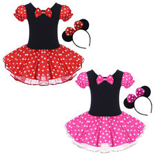 Minnie Mouse Costume for Girls Fancy Party Tutu Polka Dot Dress up Ear Outfits