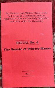Red Cross of Constantine - Ritual No 4 - Senate of Princes-Mason