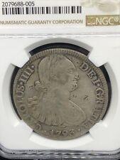 1793 8 real MO mexico Chopmarked beautiful coin NGC