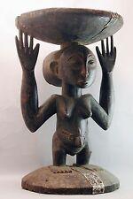 AFRICAN MATERNITY MOTHER  CARYATID STOOL FURNITURE WOOD CHAIR SONGYE HEMBA ETNIX