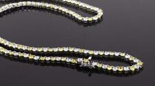 Stainless Steel With Yellow & White Cubic Zirconia Tennis Necklace NM1004RD434