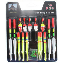 15pcs /Set Assorted Sizes Slip Drift Tube Indicator Fishing Lure Floats Bobbers