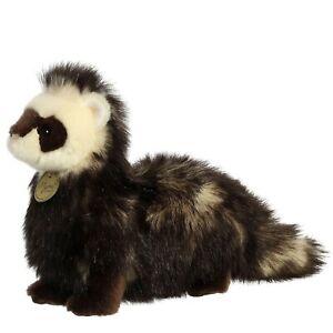 "TheMogan 10"" White Face Ferret Plush Stuffed Safari Jungle Zoo Animal Toy"