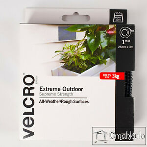 VELCRO Brand - 25mm x 3M EXTREME OUTDOOR STICK-ON Hook Only Tape - HEAVY DUTY