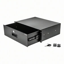 "New 3U Drawer Rack Mount DJ 19"" Rack Case Equipment Deep Drawer 3Space Lockable"