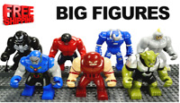 Lego Big Minifigures Avengers Figures Marvel DC Iron Man Black Panther Godzilla