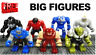Lego Big Minifigures Avengers Figures Marvel DC Iron Man Black Panther Godzilla