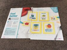 4 Get Better, Feeling ill & Unwell,Plasters Cards cross stitch chart Only (690)