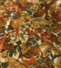 FALL LEAVES, APPLES & PEARS -COTTON BY JOAN MESSMORE  BY THE YARD