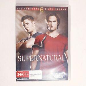 Supernatural Season 6 DVD TV Series Free Postage Region 4 AUS